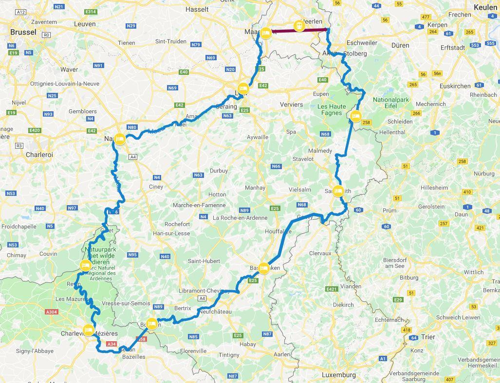 Five Country Bicyle Trip- en